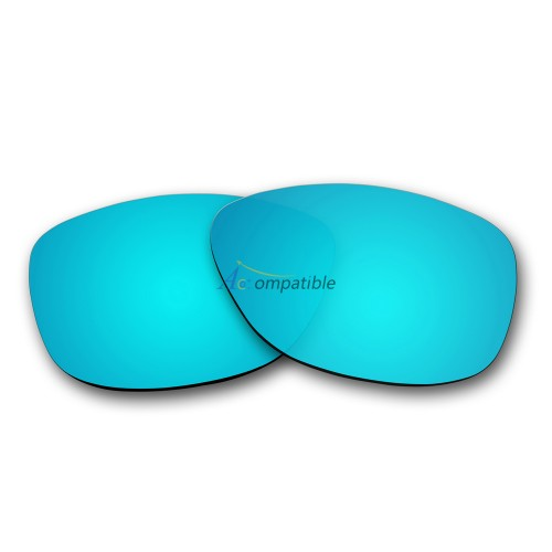 Replacement Polarized Lenses for Oakley Frogskins (Ice Blue Mirror)