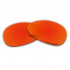 Replacement Polarized lens for Oakley Warden (Hammer), Warden (Square O), Warden (Trigger) - Fire Red Mirror
