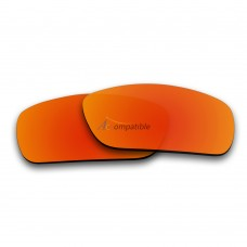 Replacement Polarized Lenses for Oakley Fuel Cell (Fire Red Mirror)