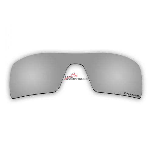 Replacement Polarized Lenses for Oakley Oil Rig II (Silver Mirror)