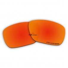 Replacement Polarized Lenses for Oakley Tincan Carbon OO6017 (Fire Red Mirror)