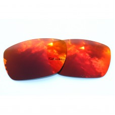 Replacement Polarized Lenses for Oakley Tinfoil Carbon OO6018 (Fire Red Mirror)