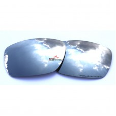 Replacement Polarized Lenses for Oakley Tinfoil Carbon OO6018 (Silver Mirror)