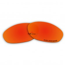 Replacement Polarized Lenses for Oakley Unknown (Fire Red Mirror)