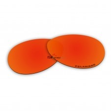 Replacement Polarized Lenses for Oakley Vacancy OO2014 (Fire Red Mirror)