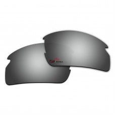 Replacement Polarized Lenses for Oakley Flak 2.0 OO9295 (Silver Mirror)