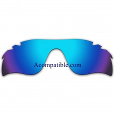 Replacement Polarized Vented Lenses for Oakley RadarLock Path (Asia Fit) OO9206 (Ice Blue Coating)