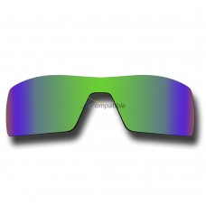 Polarized Lenses for Oakley Oil Rig (Emerald Green Coating Mirror)