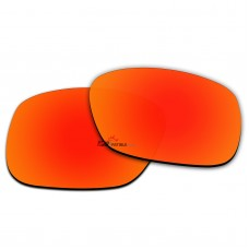 Replacement Polarized Lenses for Oakley LBD OO9193 53-17-135 (Not Overtime OO9167)  (Fire Red Mirror)