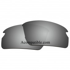 Replacement Polarized Lenses for Oakley Flak 2.0 (Asian Fit) OO9271 (Silver Coating)
