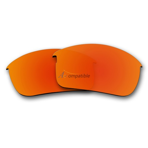 Replacement Polarized Lenses for Oakley Bottle Rocket OO9164 (Fire Red Mirror)