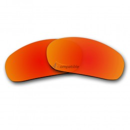 Replacement Polarized Lenses for Oakley Racing Jacket, New (Fire Red Mirror)