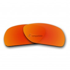 Replacement Polarized Lenses for Oakley Scalpel OO9095 (Fire Red Mirror)