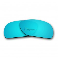 Replacement Polarized Lenses for Oakley Scalpel OO9095 (Ice Blue Mirror)