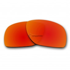 Replacement Polarized Lenses for Oakley Dispatch 1 OO9090 (Fire Red Mirror)
