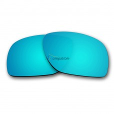 Replacement Polarized Lenses for Oakley Dispatch 1 OO9090 (Ice Blue Mirror)