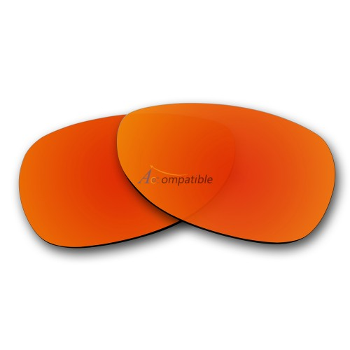 Replacement Polarized Lenses for Oakley Dispatch 2 OO9150 (Fire Red Mirror)
