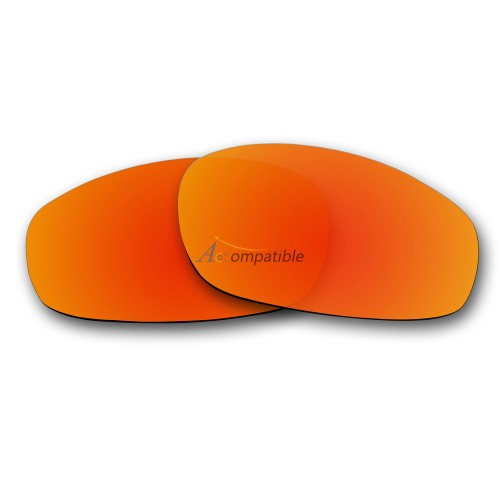Replacement Polarized Lenses for Oakley Split Jacket OO9099 (Fire Red Mirror)