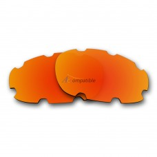 Polarized Vented Lenses for Oakley Split Jacket OO9099 (Fire Red Mirror)