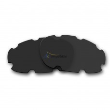 Replacement Polarized Vented Lenses for Oakley Split Jacket OO9099 (Black)