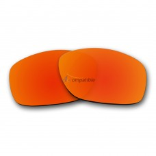 Replacement Polarized Lenses for Oakley Ten OO9128 (Fire Red Mirror)