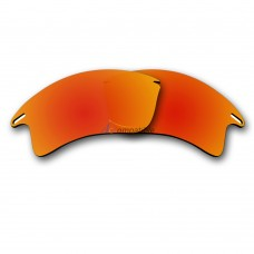 Replacement Polarized Lenses for Oakley Fast Jacket XL (Fire Red Mirror)