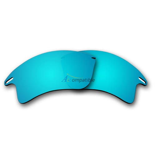 Replacement Polarized Lenses for Oakley Fast Jacket XL OO9156 (Ice Blue Mirror)