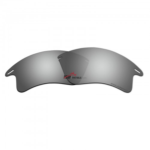Replacement Polarized Lenses for Oakley Fast Jacket XL OO9156 (Silver Coating Mirror)