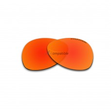 Replacement Polarized Lenses for Oakley Plaintiff (Fire Red Mirror)