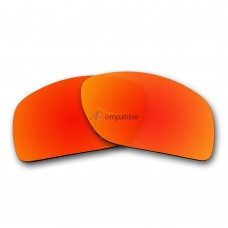 Replacement Polarized Lenses for Oakley Oil Drum (Fire Red Mirror)