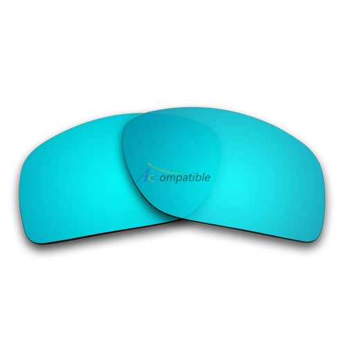 Replacement Polarized Lenses for Oakley Oil Drum (Ice Blue Mirror)