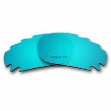 Replacement Polarized Vented Lenses for Oakley Jawbone (Ice Blue Mirror)