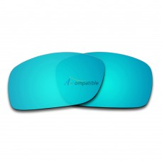 Replacement Polarized Lenses for Oakley Pit Bull OO9127 (Ice Blue Mirror)