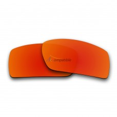 Replacement Polarized Lenses for Oakley Gascan (Asian Fit) (Fire Red Mirror)