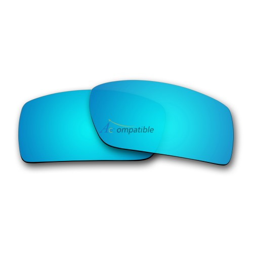 Replacement Polarized Lenses for Oakley Gascan (Asian Fit) (Ice Blue Mirror)