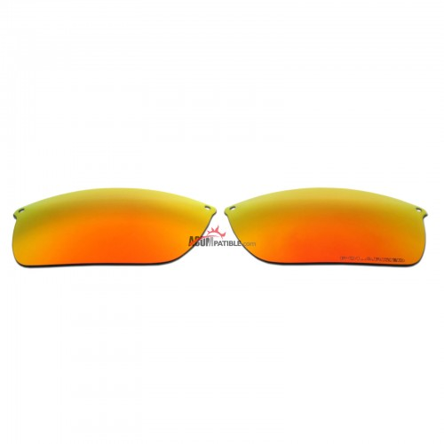 Replacement Polarized Lenses for Oakley Carbon Blade OO9174 (Fire Red Mirror)
