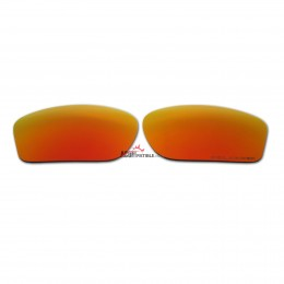 Replacement Polarized Lenses for Oakley Chainlink (Fire Red Mirror)