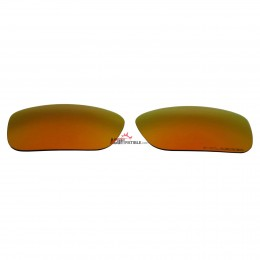 Replacement Polarized Lenses for Oakley Crankcase (Fire Red Mirror)