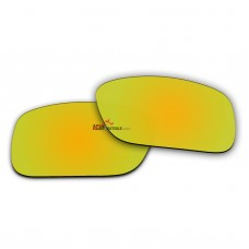 Replacement Polarized Lenses for Oakley Crankcase OO9165 (Gold Mirror)