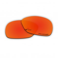 Replacement Polarized Lenses for Oakley C Wire New (OO4046, Year 2011)  (Fire Red Coating)