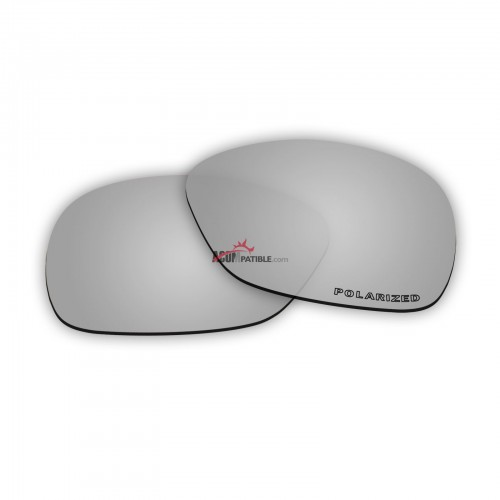 Replacement Polarized Lenses for Oakley C Wire New (OO4046, Year 2011)  (Silver Coating)