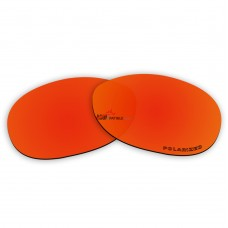 Replacement Polarized Lenses for Oakley Dangerous (Fire Red Mirror)
