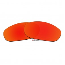 Replacement Polarized Lenses for Oakley Big Square Wire (Fire Red Mirror)