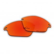 Replacement Polarized Lenses for Oakley Fast Jacket (Fire Red Mirror)