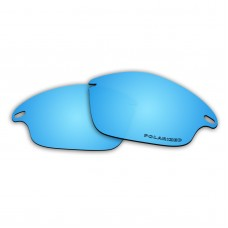 Replacement Polarized Lenses for Oakley Fast Jacket (Ice Blue Coating Mirror)