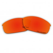 Replacement Polarized Lenses for Oakley Flak Jacket (Asian Fit) (Fire Red Mirror)