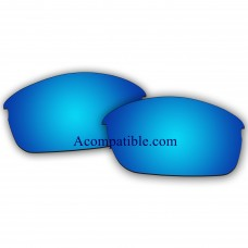 Replacement Polarized Lenses for Oakley Flak Jacket (Asian Fit) (Ice Blue Mirror)