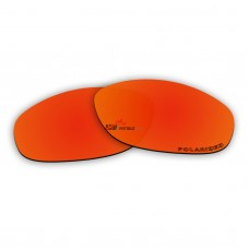 Replacement Polarized Lenses for Oakley Hatchet Wire (Fire Red Mirror)