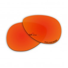 Replacement Polarized Lenses for Oakley Hinder OO4043 (Fire Red Mirror)
