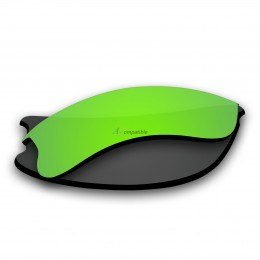 Replacement Polarized Lenses for Oakley Flak Jacket XLJ (Amber Green Mirror)